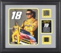 Kyle Busch Framed 8x10 Photograph With Race Used Tire, Plate And Dayyona Internstional Speedway Track