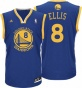 Monta Ellis Jersey: Adidas Revolution 30 Blue Replica #8 Golden Stats Warriors Jersey