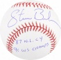Steve Bedrosian Autographed Baseball  Details: Philadelphia Phillies, 87 Cy / 91 Ws Champs Inscription