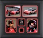 Tony Stewart Framed Photographs  Details : 4 €� 4x6 Phltographs, 2010 Race Used Tire, Limoted Edition Of 500