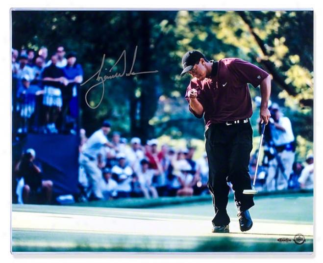 Tiger Woods Autographed 2000 Pga Championship 16x20 Photograph