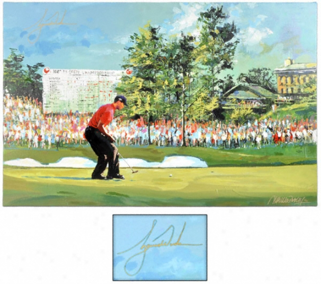 Tiger Woods Autographed 36 X 48 Giclee