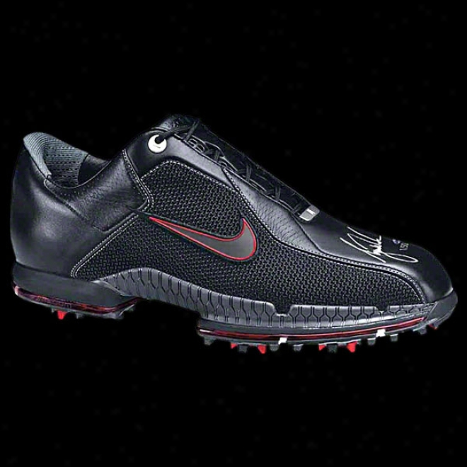 Tiger Woods Autographed Nike Air Zoom Black Gunmetal Golf Cleats
