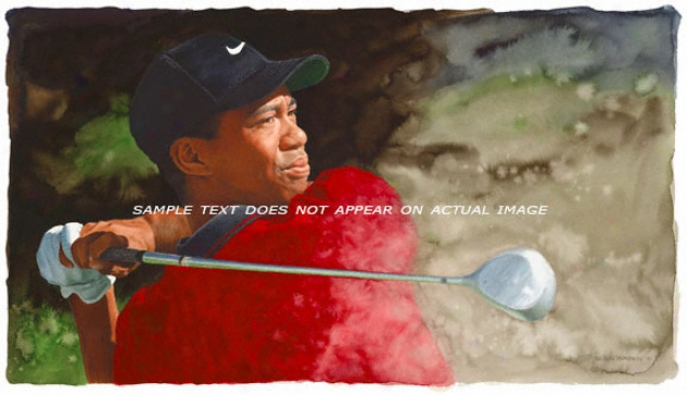 Tiger Woods - &quotthe Swing&quot - Wall - Unframed Giclee