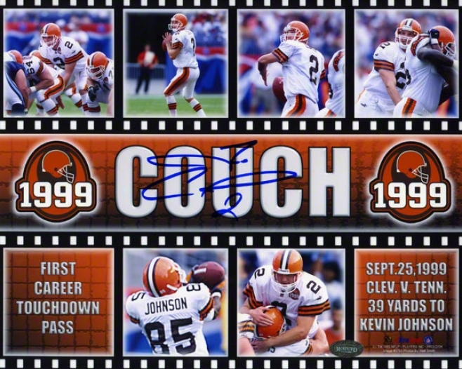 Tim Couch Cleveland Browns - Primary Td Pass - 8x10 Autographed Photograph