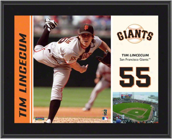 Tim Lincecum Plaque  Detalls: San Francisco Giangs, Sublimated, 10x13, Mlb Plaque