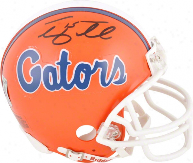 Tim Tebow Autographed Mini Helmet  Details: Florida Gators