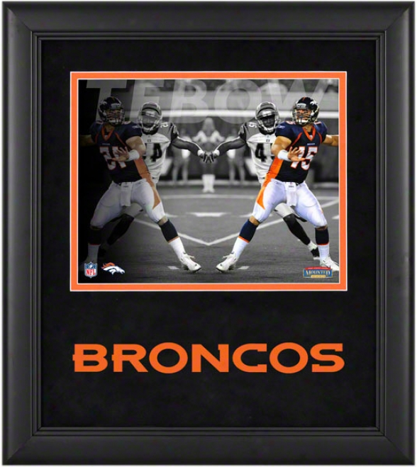 Tim Tebow Framed Photograph  Details: 8x10, Reflections, Denver Broncos