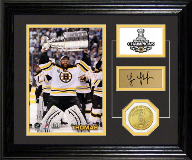 Tim Thomas Boston Bruins Stanley Cup Pride Photo Mint