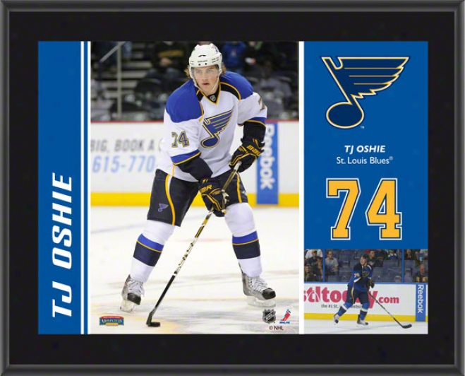T.j. Oshie Plaque  Details: St. Lo8is Blues, Sublimated, 10x13, Nhl Plaque