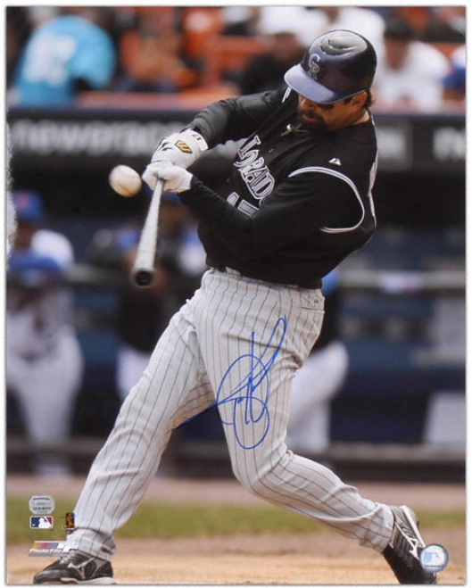 Todd Helton Colorado Rockies - Hitting - Autographed 16x20 Photograph