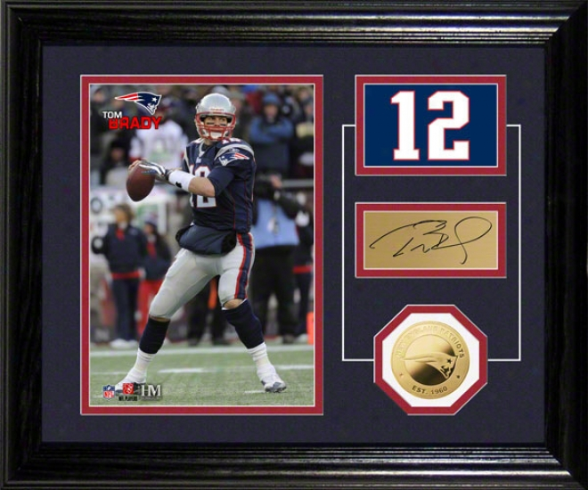 Tom Brady Photo Mint: New England Patriots Gamester Pride Desk Top Photo Mint
