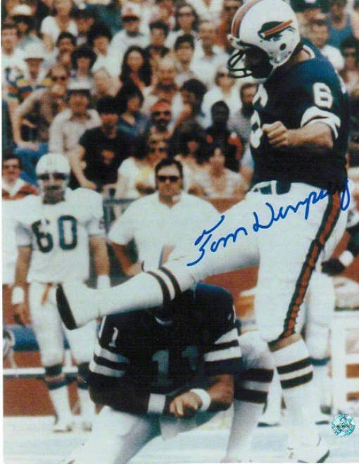 Tom Dempsey Autographed Buffalo Bills 8x10 Photo