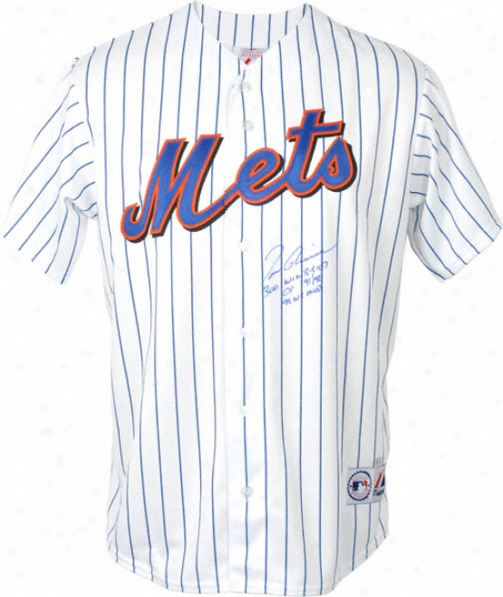 Tom Glavine Autographed Jersey  Details: New York Mets, 300 Win 8-5-07/cy 1991/1998 & 1995 Life Series Mvp Inscription