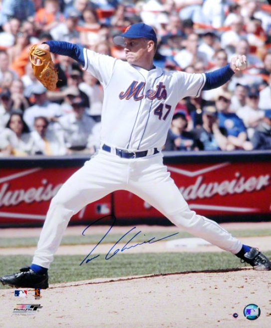 Tom Glavine New York Mets - Pitching - Autographed 16x20 Photograph