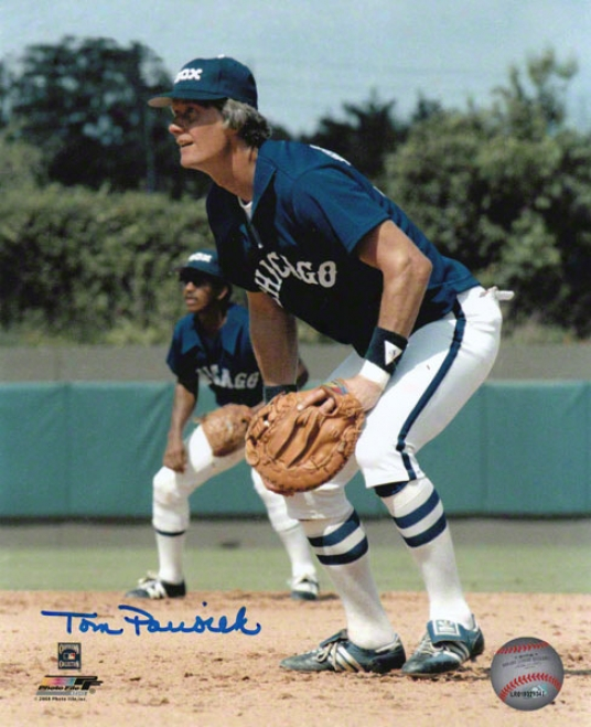 Tom Paciorek Chicago White Sox Autographed 8x10 Photograph
