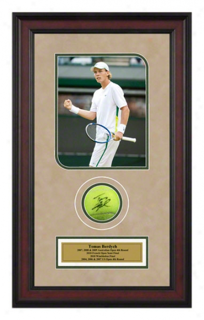 Tomas Berdych Frame dAutographed Tennis Dance With Photo
