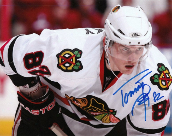 Tomas Kopecky Chicago Blackhawks - Avtion - Autographed 8x10 Photograph