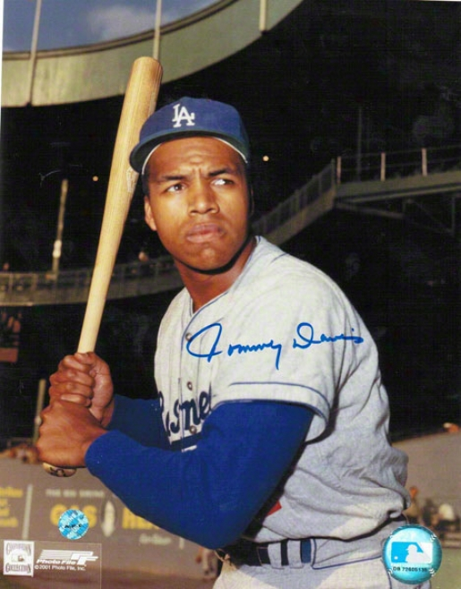 Tommy Davis Los Angeles Dodgers Autographed 8x10 Photo Batting Stance
