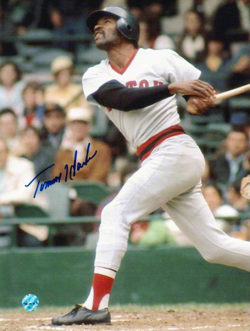 Tommy Harper Boston Red Sox Autographed 8x10 Photo Swinbing