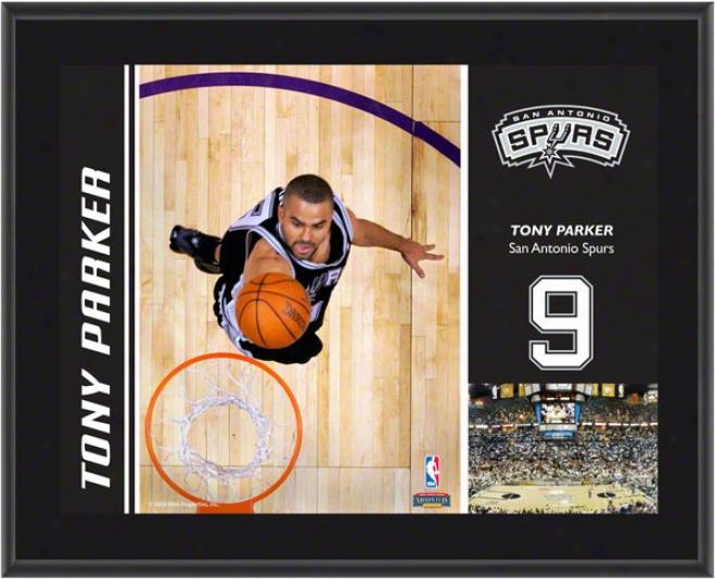 Tony Parker Plaque  Details: San Antonio Spurs, Sublimated, 10x13, Nba Plaque
