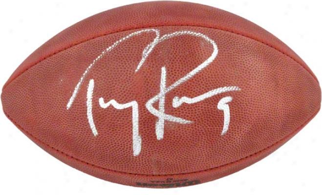 Tony Romo Autographed Footbal  Details: Pro Football
