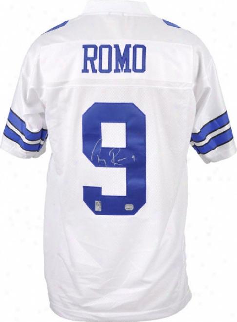 Tony Romo Autographed Jersey  Details: Dallas Cowboys, Reebok Eqt