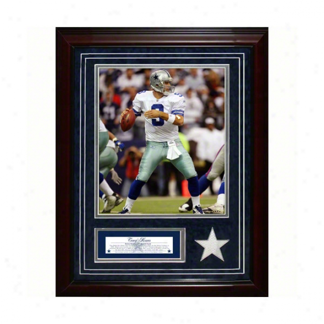 Tony Romo Dallas Cpwboys 11x14 Framed Collage With Game Used Jersey, Photo & Nameplate