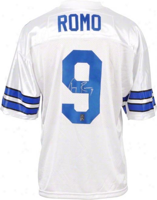 Tony Romo Dallas Cowboys Autographed Custom Jersey