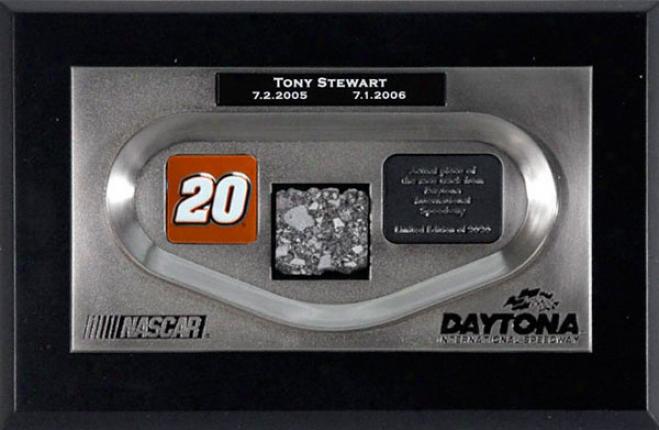 Tony Stewart - 2-time Pepsi 400 Winner - Daytona Zinc Replica Showpiece With Track Piece 2-time Pepsi 400ã'â® Winner