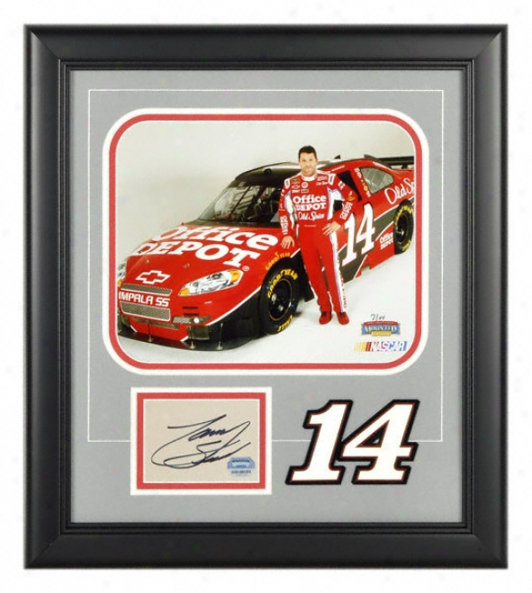 Dunce Stewart - 2009 Press - Framed 8x10 Photograph With Autographed Card And Laser Cut Logo