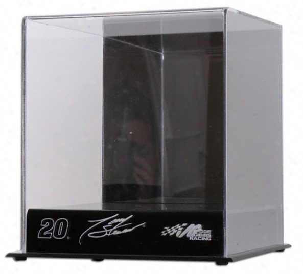 Tony Stewart Mini Nascar Helmet Diplay Case With Engravec Logos