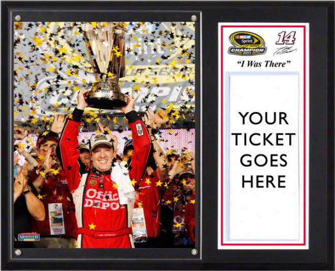 Tony Stewart Sublimated 12x15 Plaque  Details: 2011 Sprint Cup Series Champion &quoti Was There&quot
