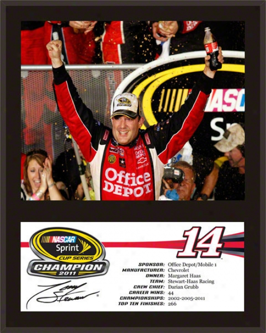 Tony Stewart Sublimatd 12x15 Plaque  Details: 2011 Sprint Cup Series Champion
