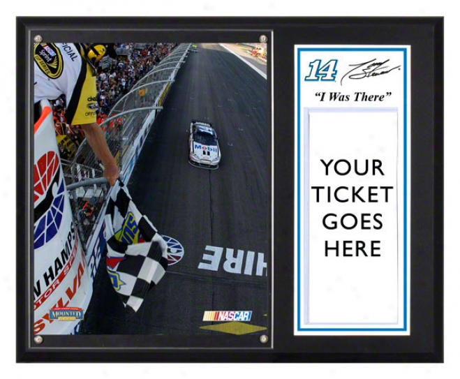 Tony Stewart Sublimated 12x15 Plaque  Particulars: 2011 Sylvania 300 Voctory At New Hampshire Motor Speedway,& quoti Was There&quot