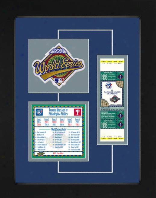 Toronto Blue Jays 1993 World Series Replica Ticket & Patch Frame