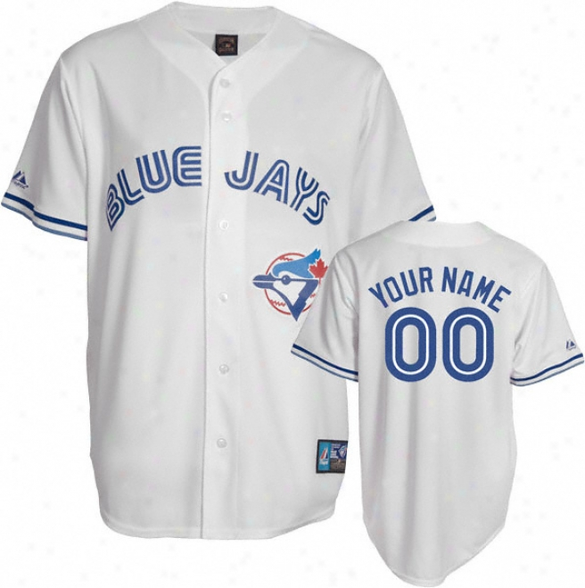 Toronto Blue Jays Cooperstown White -personalized With Your Name- Replica Jersey
