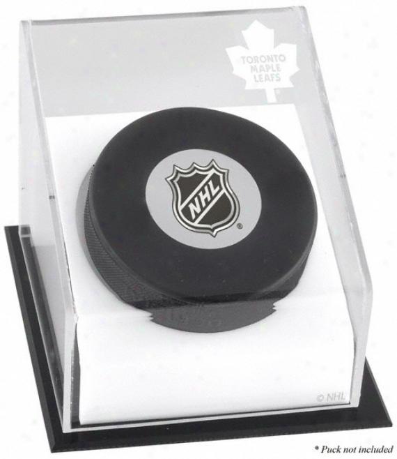 Toronto Maple Leafs Hockey Puck Logo Display Case