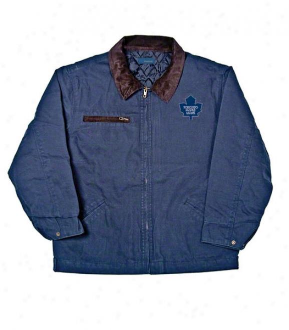 Toronto Maple Leafs Jacket: Blue Reebok Tradesman Jacket