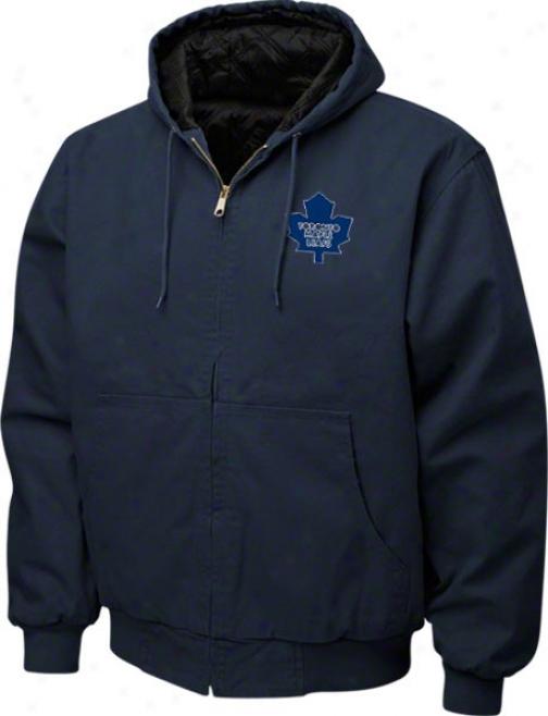 Toronto Maple Leafs Jacket: Navy Reebok Cumberland Jacket
