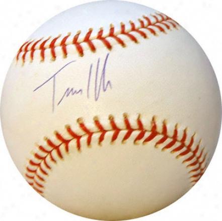 Travis Hafner Autographed Baseball