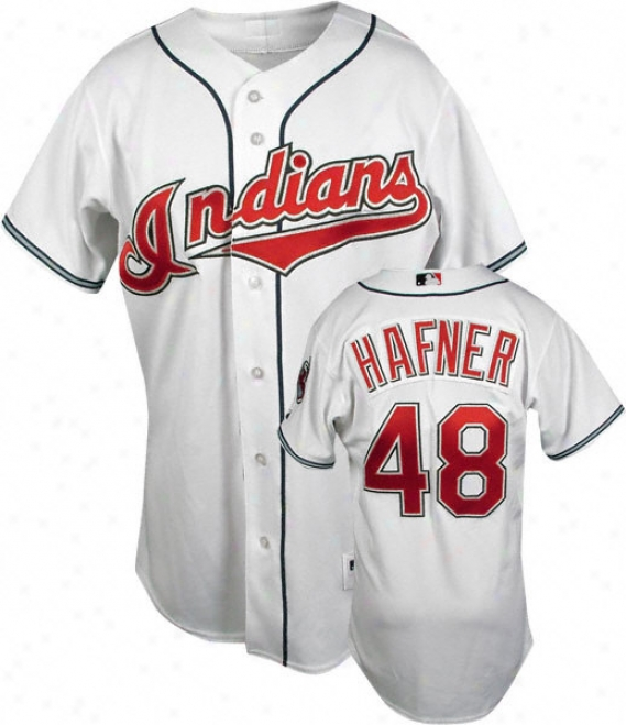 Travis Hafner White Splendid Mlb Home Authentic Cleveland Indians Jersey