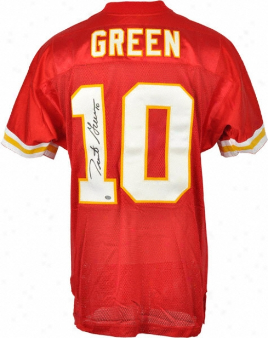 rTent Green Autographed Jersey  Details: Kansas City Chiefs, Authentic, Red, Reebok