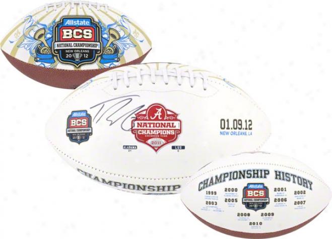 Trent Richardson Auttographed Football  Details: Alabama Crimson Tide, 2011 Bcs National Champs, Logo
