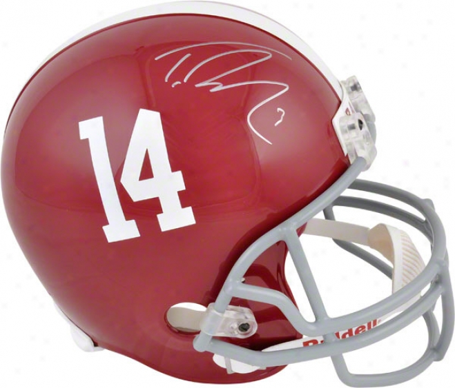 Trenf Richardson Autographed Replica Helm  Details: Alabama Crimson Tide