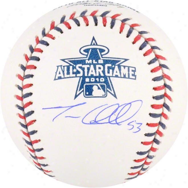 Trevor Cahill Autographed Baseball  Details: Oakland Athletics