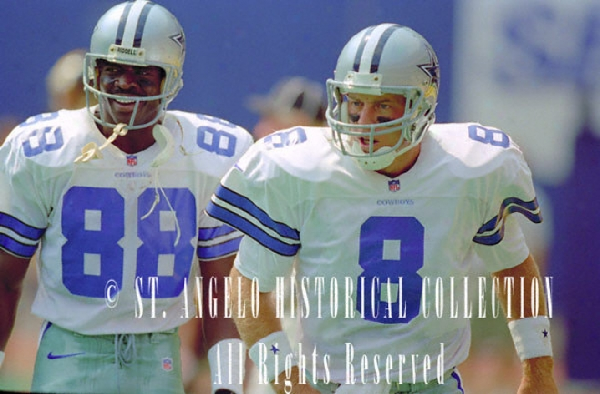 Troy Aikman And Michael Irvin Dallas Cowboys - Ready To Roll - 16x20 Portrait