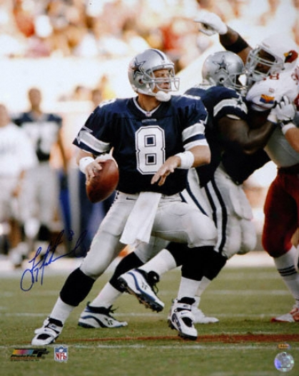 Troy Aikman Dallas Cowboys - Passing - Autographed 16x20 Photograph