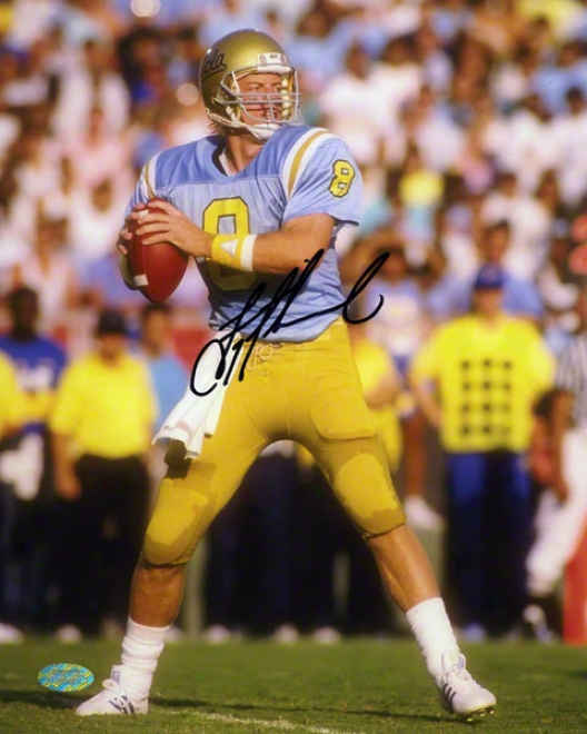 Troy Aikman Ucla Bruins - Passing At Ucla - Autographed 8x10 Photograph
