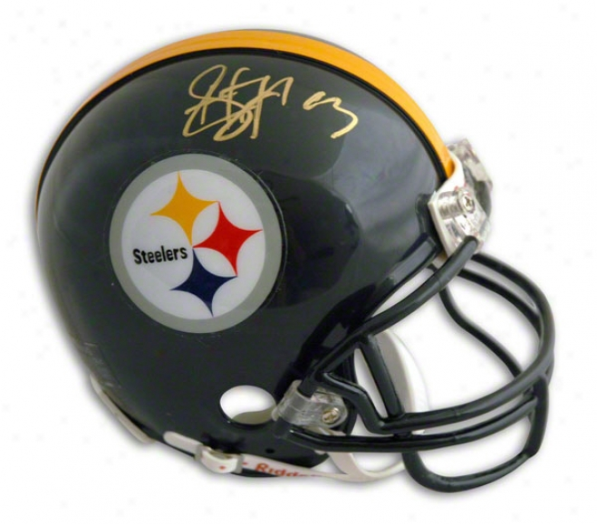 Troy Polamalu Autographed Pittsburgh Steelers Mini Helmet